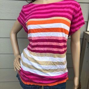 Bright striped T-shirt